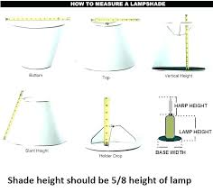 interior how to measure lamp shade fantasy medallion shades and from a made table house measuring good how to measure lamp shades