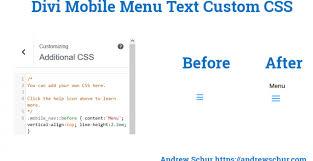 The Word Menu How To Add Menu Title To Divi Mobile Menu Andrew Schur