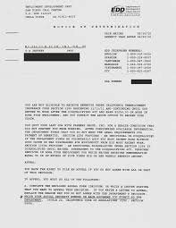 Form Appeal Letter Edd Sample Unemployment Denial Latest