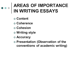 introduction to writing an essay ppt  areas of importance in writing essays