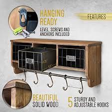 rustic coat rack wall mounted shelf