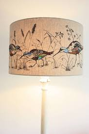 wading birds lampshade by lara sparks embroidery
