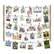 multiple picture frames wood. Love-KANKEI Wood Picture Photo Frame For Wall Decor 26×29 Inch - With Multiple Frames