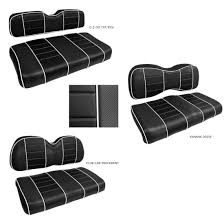 golf cart custom front seat covers black and 50 similar items 57