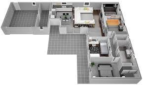Plan Maison 100m2 Plein Pied 3 Chambres 5 De Maison 224 Salon