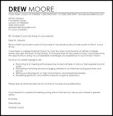 Cover Letter For Coaching College Football Coaching Cover Letter