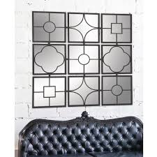 Square Metal Wall Decor Metal 49 In X 49 In Wall Decor Framed Mirror 44521 The Home Depot