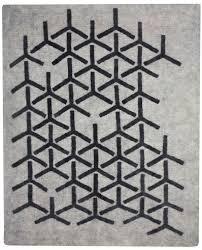 peace industry felt rugs matrix pattern