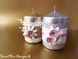 Idea regalo: candele decorate gift idea: decorated candles youtube