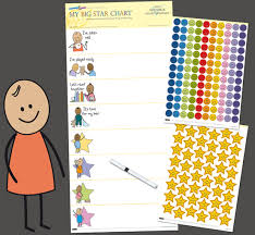 Gold Star Sticker Chart Reward Chart For Toddlers Victoria Chart Company