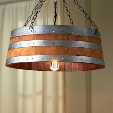 wine barrel top light enthusiast inspiringndeliers for woodndelier antique on