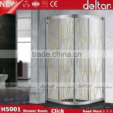 4 stainless steel aluminum frames self cleaning tempered glass shower free standing shower enclosure