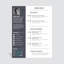 simple resume creative resume templates download free