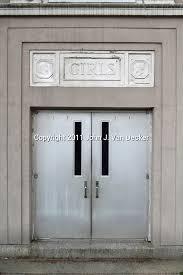 school doors. A Door To Public School No. 13 In Clifton, New Jersey, USA. Doors