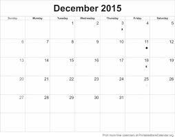 December 2015 Printable Blank Calendar Printable Blank