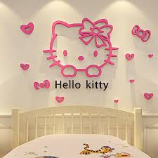 Small Picture Hello Kitty Walls Stickers 3d Wall Stickers Online Mirror Design