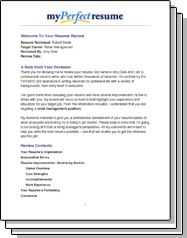 Resume Review My Perfect Resume