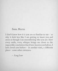 love relationships love quotes soulmate soul mates lang leav twin ... via Relatably.com