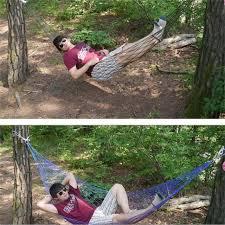 200 80cm portable tree hanging hammock garden nylon swing chair outdoor camping meshy hammock