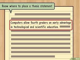 Как написать тезисы wikihow Изображение с названием write a thesis statement step 8