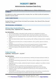 Administrative Assistant Summary Resumes Administrative Assistant Data Entry Resume Samples Qwikresume