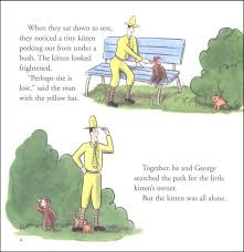curious george and the puppies book cd set additional photo inside page