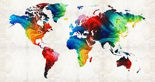 map painting world map 19 colorful art by sharon mings by sharon mings