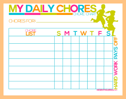 Kids Daily Chore Chart 11 Chore Charts For Kids Resume Pdf