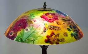reverse painted lamp shades hummingbird painted lamp tiffany reverse painted lamp shades