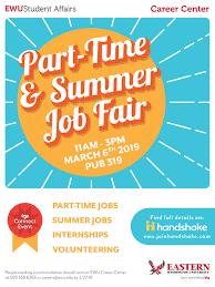 Part Time And Summer Job Fair
