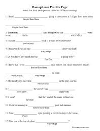 free homophone worksheet - Homeschool Den