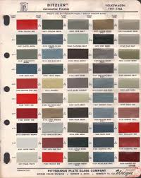Volkswagen Paint Chart Color Reference