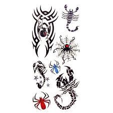 1ks Elegantní Nepromokavé Dočasné Tetování Zápěstí Krk Rameno Prst Tetování Glitter škorpión Pavouk Tetování 185 Cm 85 Cm