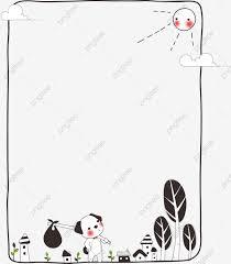無料ダウンロードのためのワンちゃんフレーム 犬の白黒世界 可愛い 漫画