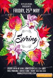 Spring Psd Flyer Template Free Download Free Graphic