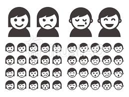 色々な表情のアイコンイラスト No 890668無料イラストなら