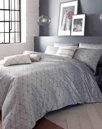 grey patterned duvet cover