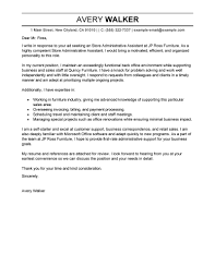Template The Best Cover Letter For Administrative Assistant Free