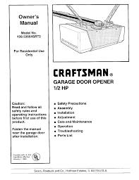 craftsman garage door opener 13953664srt2 user guide