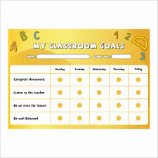 Teacher Reward Chart Classroom Goals A4 Reward Chart With Stickers