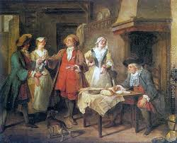 The Marriage Contract By Nicolas Lancret Oil Painting Reproduction