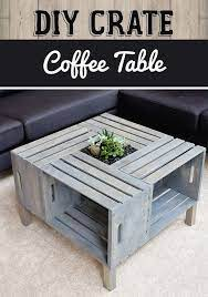 diy crate coffee table crate coffee