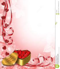 Valentine Border Hearts Stock Illustration Image Of Corner 7450656