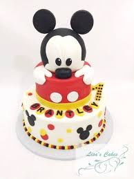 Lisas Cakes Mickey Mouse First Birthday Cake Facebook