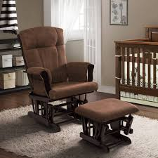 baby relax glider rocker and ottoman espresso with chocolate cushions com
