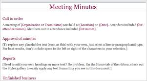 Meeting Minutes Format Example The 12 Best Meeting Minutes Templates For Professionals