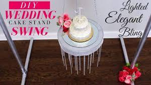 bling wedding cake stand chandelier diy suspended wedding cake stand chandelier