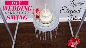 bling wedding cake stand chandelier diy suspended wedding cake stand chandelier