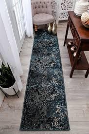 2x8 runner rug. Modern Navy Blue Runner Rugs 2x8 Hallway Long Rug Brown Beige Black 2x7 Entrance