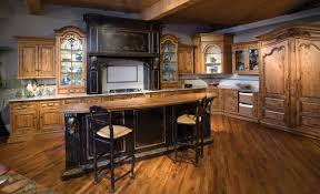 Rustic Kitchen Furniture Rustic Kitchen Decorating Ideas With Furniture And Pendant Lamps